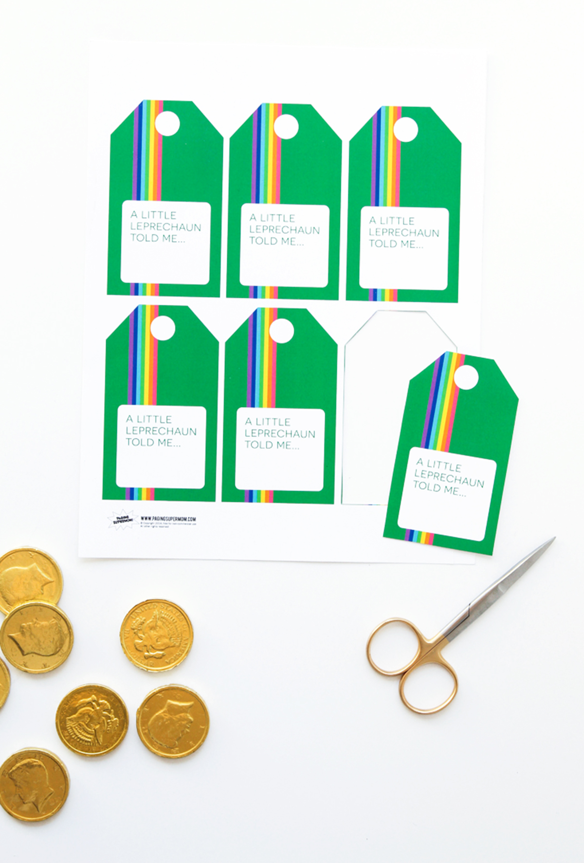 Free Printable St. Patrick's Day Gift tag via @PagingSupermom