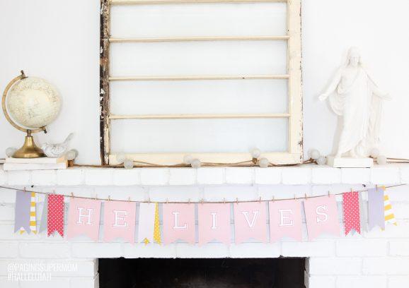 Free Printable Easter Banner from @PagingSupermom #hallelujah