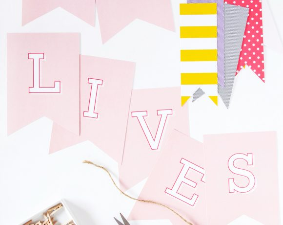 """He Lives"" Free Printable Easter Banner"