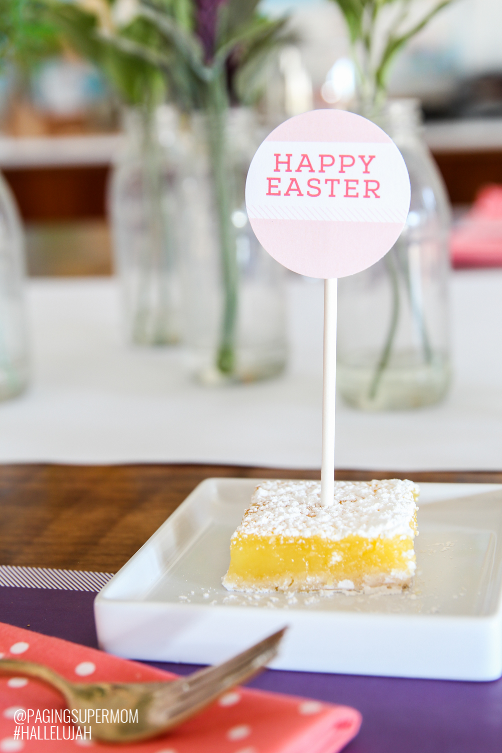 #Hallelujah Easter Dinner Ideas including free Printable Easter Decorations from @PagingSupermom
