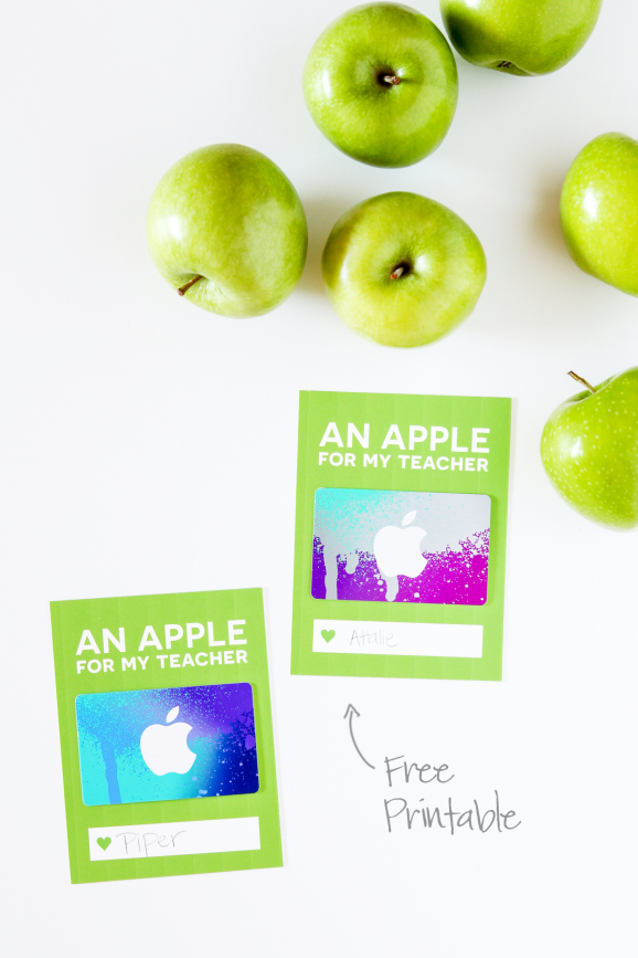 Love this cute card for giving and iTunes Gift Card for Teacher Appreciation via @PagingSupermom