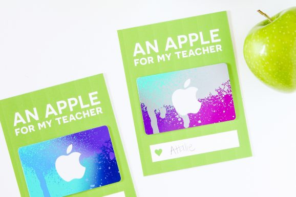 Love this card for giving and iTunes Gift Card for Teacher Appreciation via @PagingSupermom