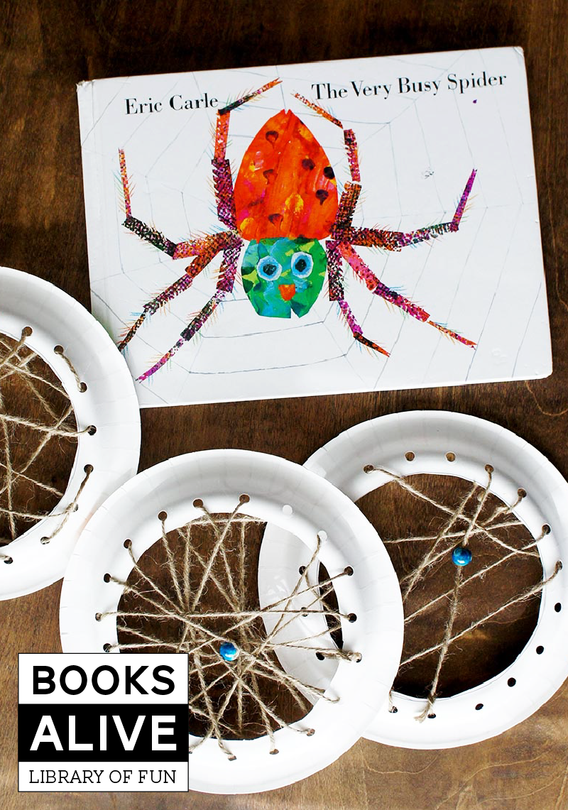 "From Eric Carle (The Very Hungry Caterpillar) this is ""The Very Busy Spider"" and here's a fun project to do with your kiddos after reading it #booksalive"