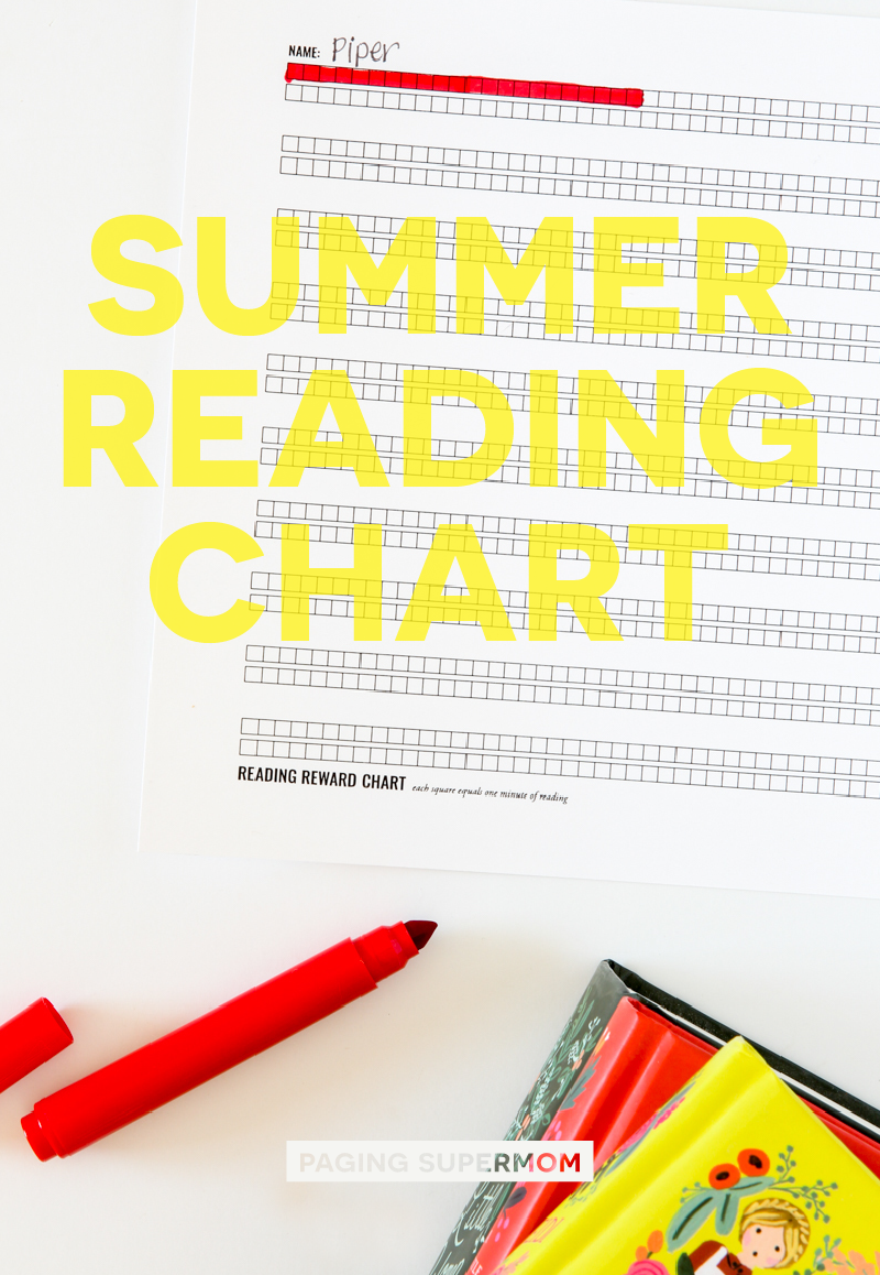 Free Printable Summer Reading Rewards Chart from @PagingSupermom
