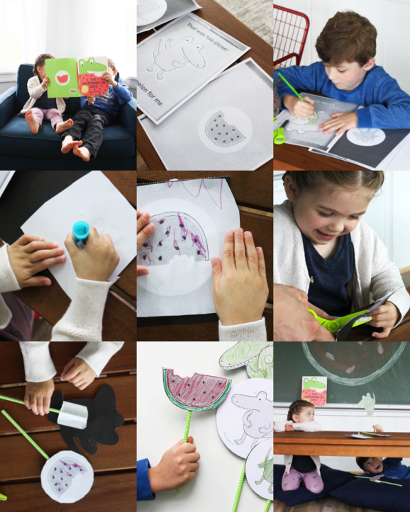 The Watermelon Seed -- make these fun puppets with a free printable template via @PagingSupermom #booksalive