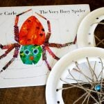 """From Eric Carle (The Very Hungry Catterpillar) this is """"The Very Busy Spider"""" and here's a fun project to do with your kiddos after reading it #booksalive"""