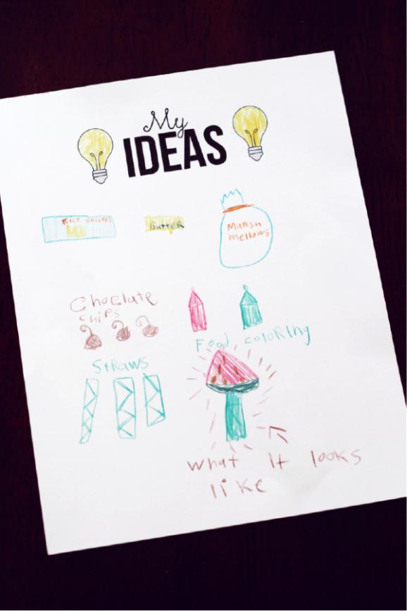 My Ideas Brainstorm Worksheet via @pagingsupermom