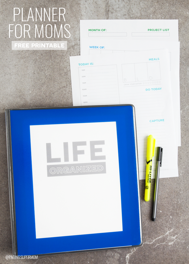 How to Organize Your Life with a Mom Day Weekly Planner Template