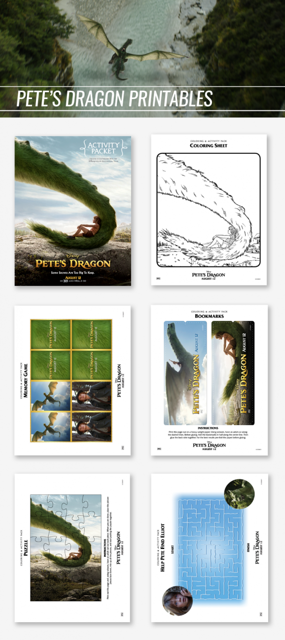 Free Printable Activities for Pete's Dragon via @PagingSupermom
