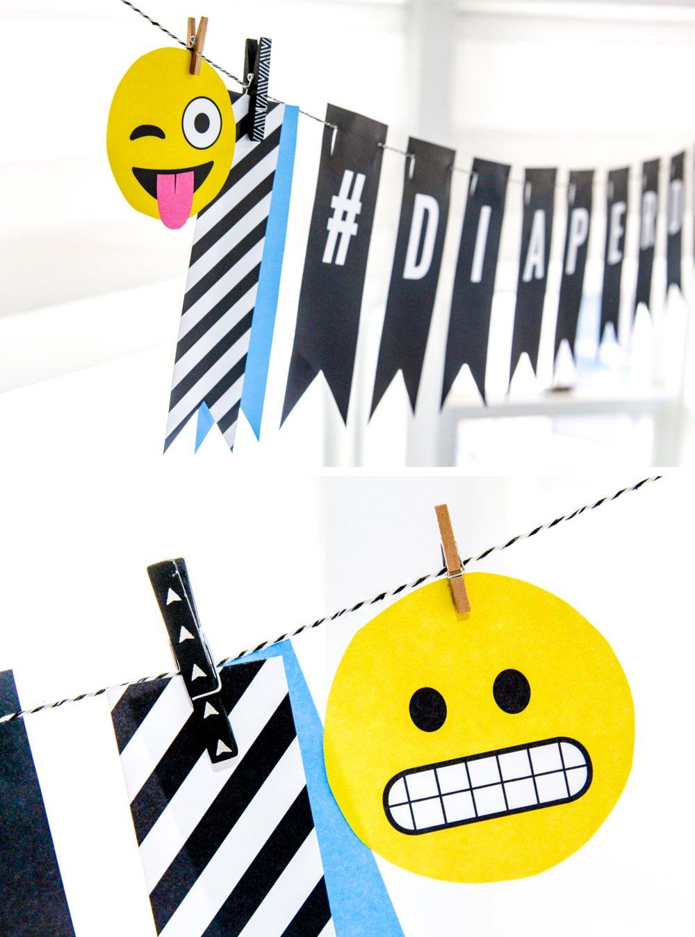 So many great Emoji Baby Shower Ideas -- inspired by the Poo Emoji and Heart Eyes Emoji. Lots of FREE printables too @PagingSupermom