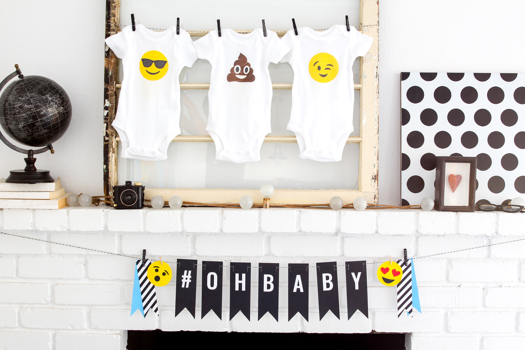 So many great Emoji Baby Shower Ideas -- inspired by the Poo Emoji and Heart Eyes Emoji. Lots of FREE printables too @PagingSupermom
