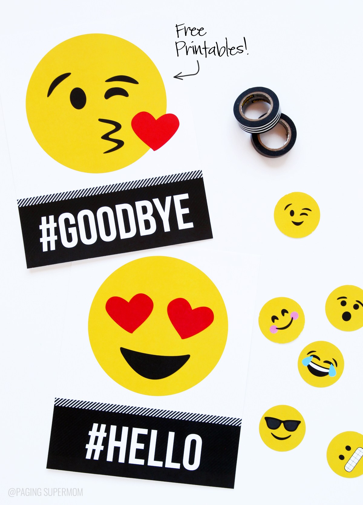 Printable Emojis perfect for a dorm room or birthday party via @PagingSupermom