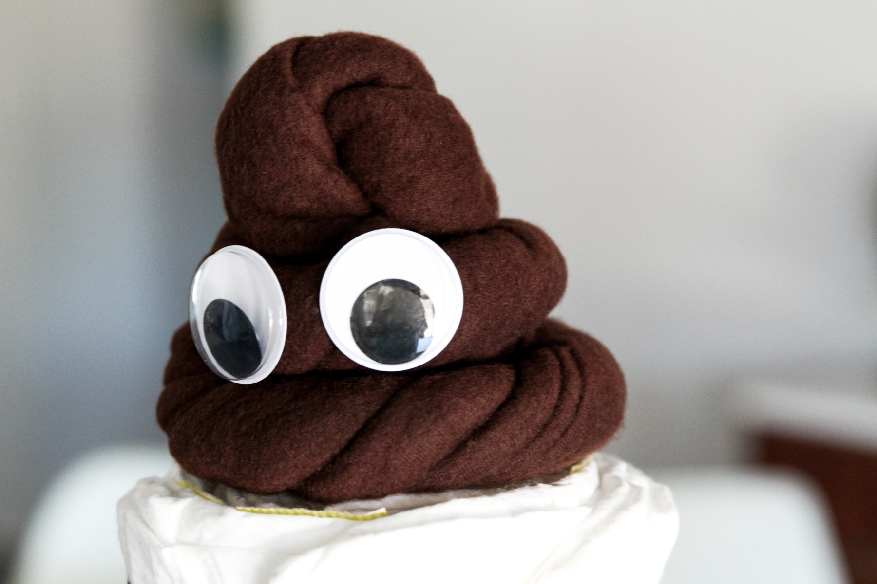LOL! How cute is this Poo Emoji Diaper Cake for an Emoji themed Baby Shower via @PagingSupermom