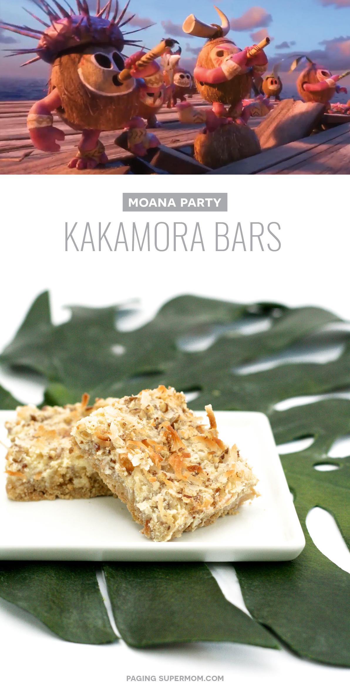 """Coconut """"Kakamora"""" Treat Bars for a Moana party."""