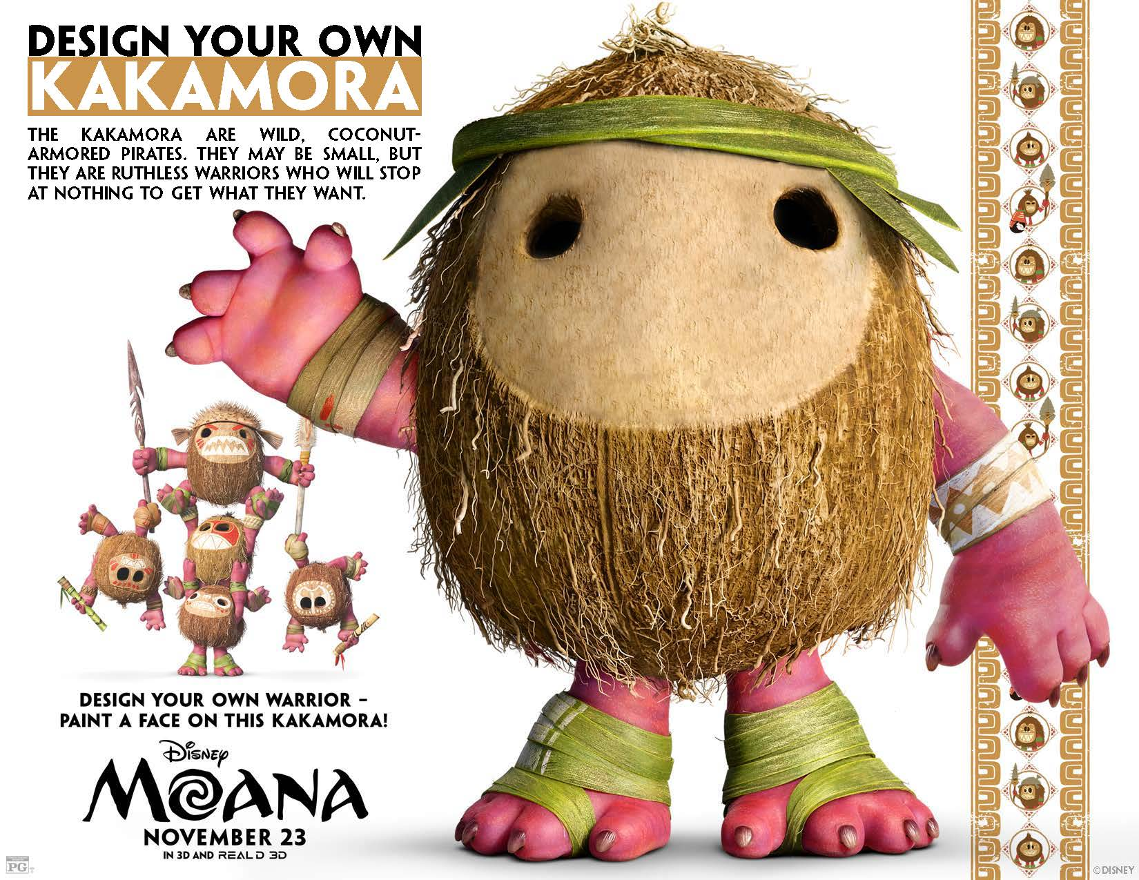 Moana Party Food Ideas  Kakamora Coconut Treats Paging