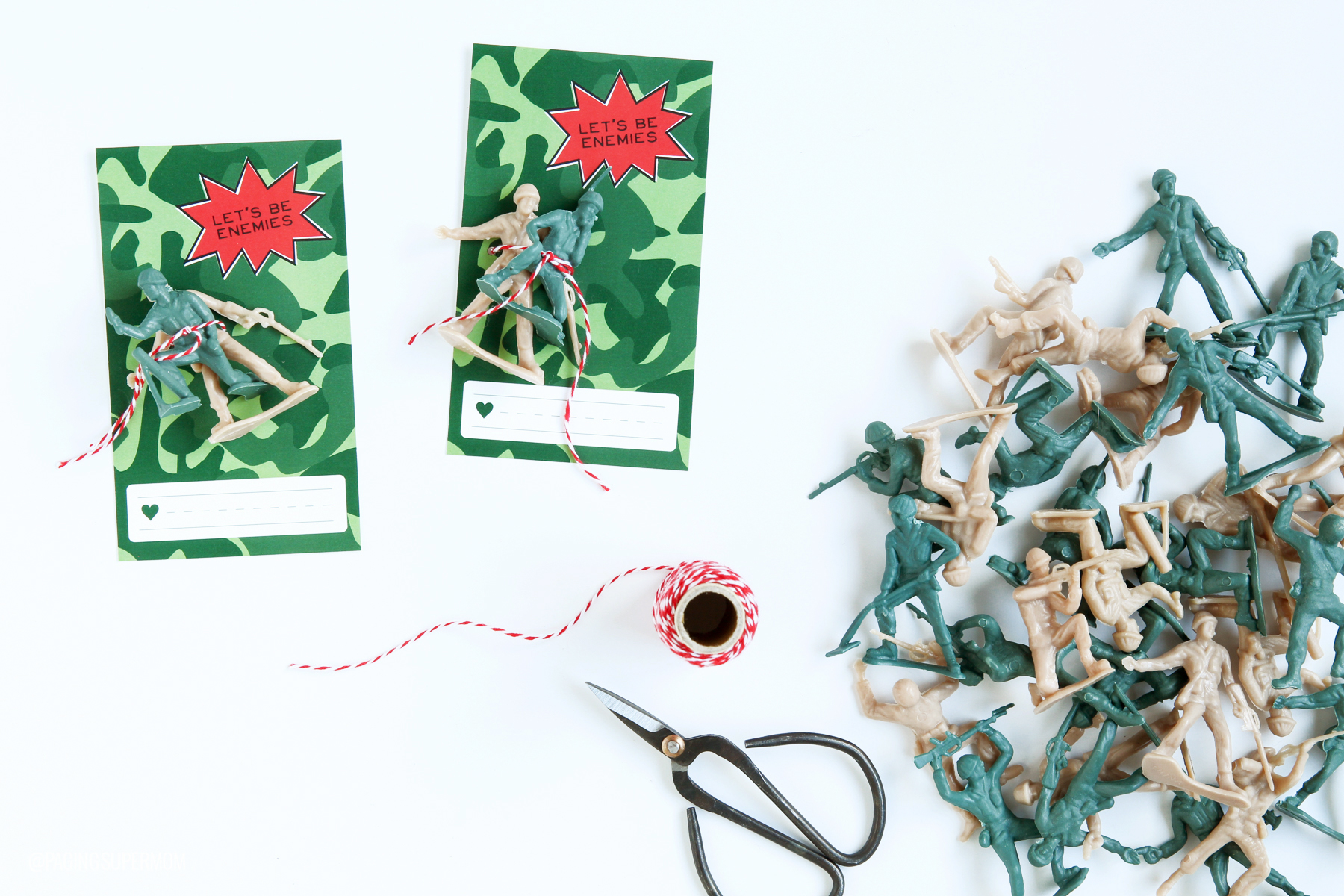 Boys Valentines Ideas - free printable Army Guy class valentine via @PagingSupermom
