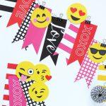Super Cute Emoji Valentines Decor made easy with Paging Supermom