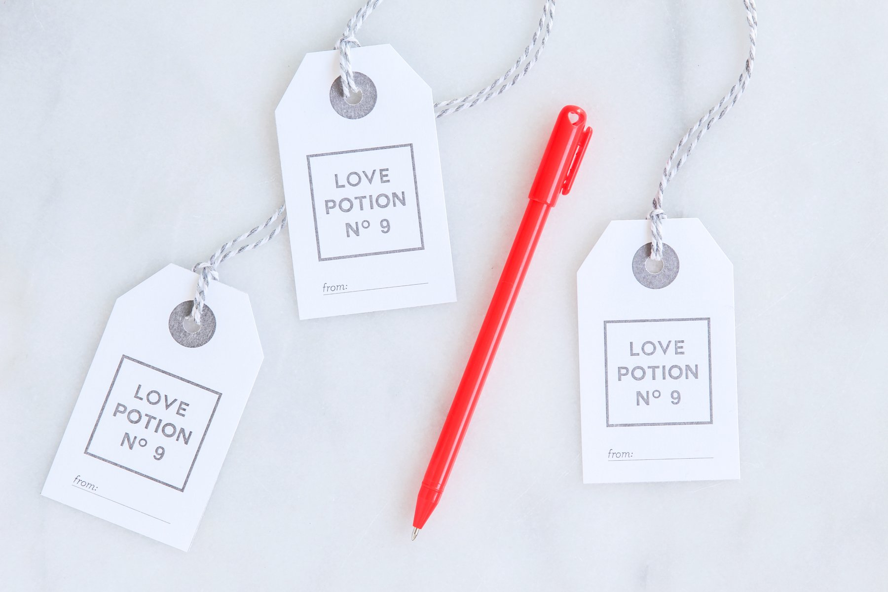 Love Potion No. 9 Valentines Gift Tag free printable from @PagingSupermom