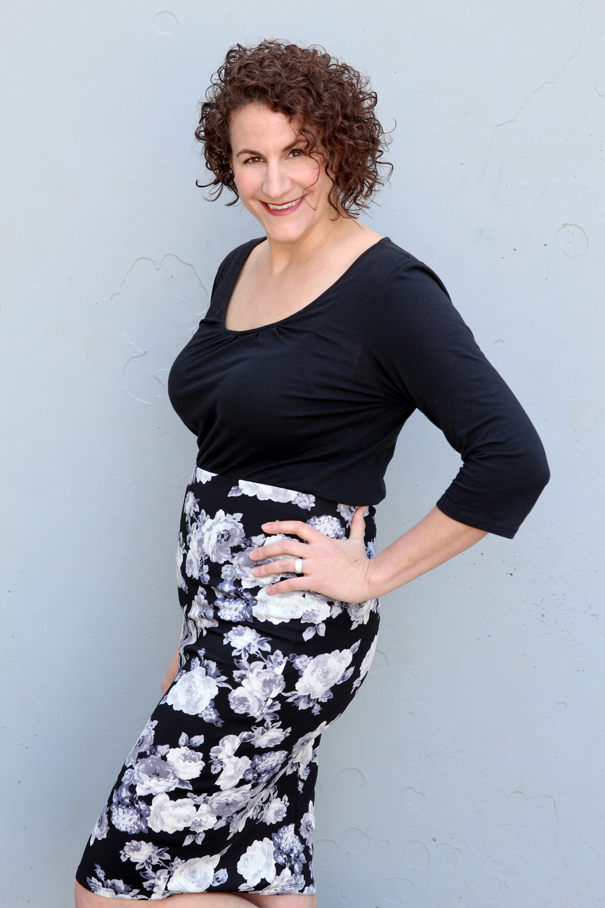 Wear a Floral Skirt as a neutral piece via @PagingSupermom