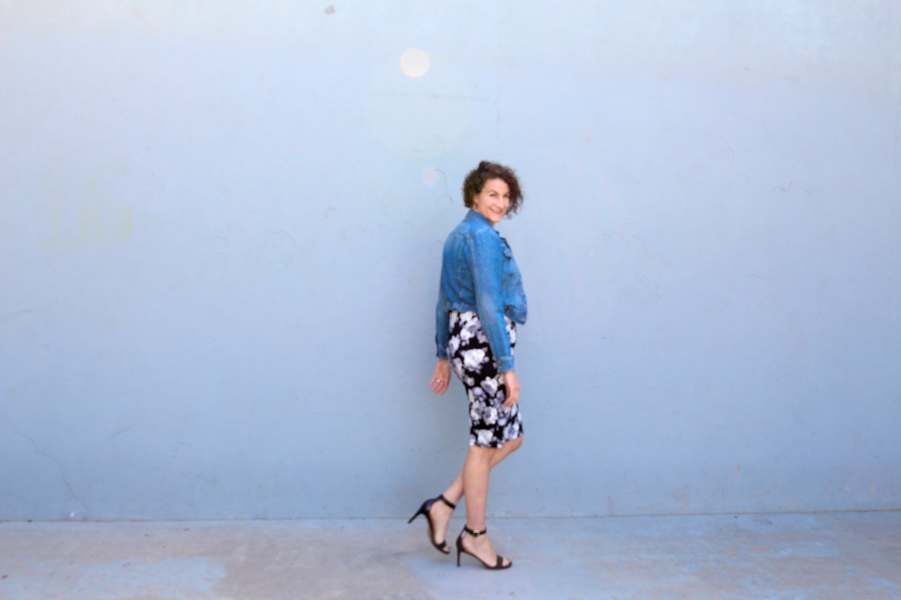 How to wear a floral skirt for winter to spring