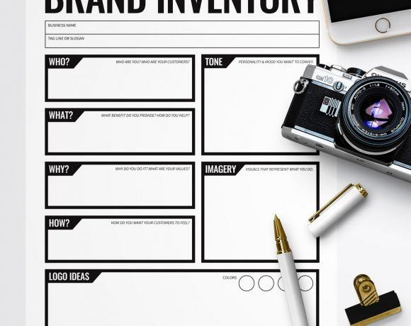 Free Printable Branding Inventory Worksheet via @PagingSupermom