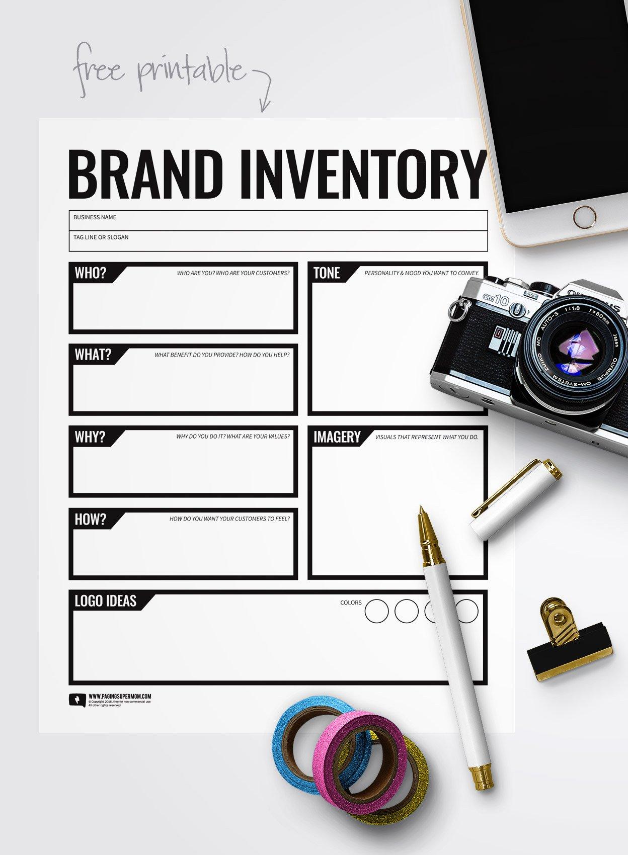 Free Printable Branding Worksheet via @PagingSupermom
