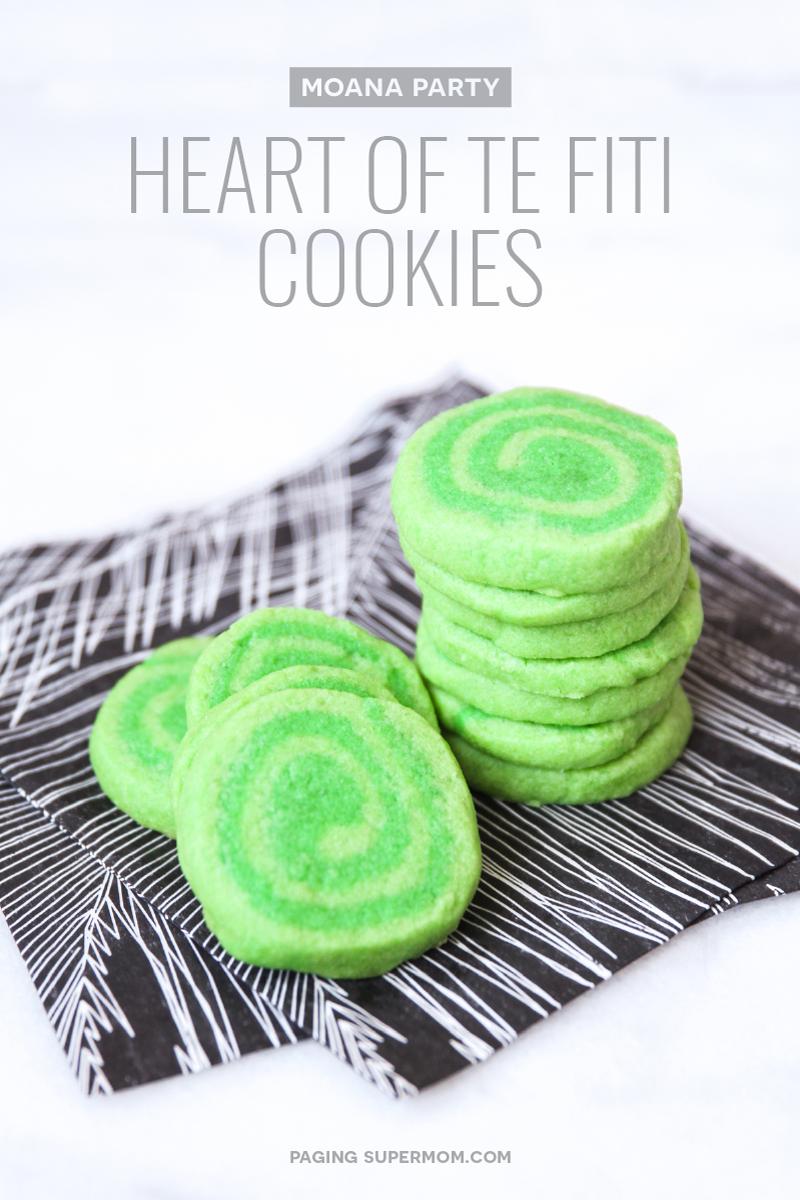 Moana Party Treats Heart Of Te Fiti Cookies Recipe From
