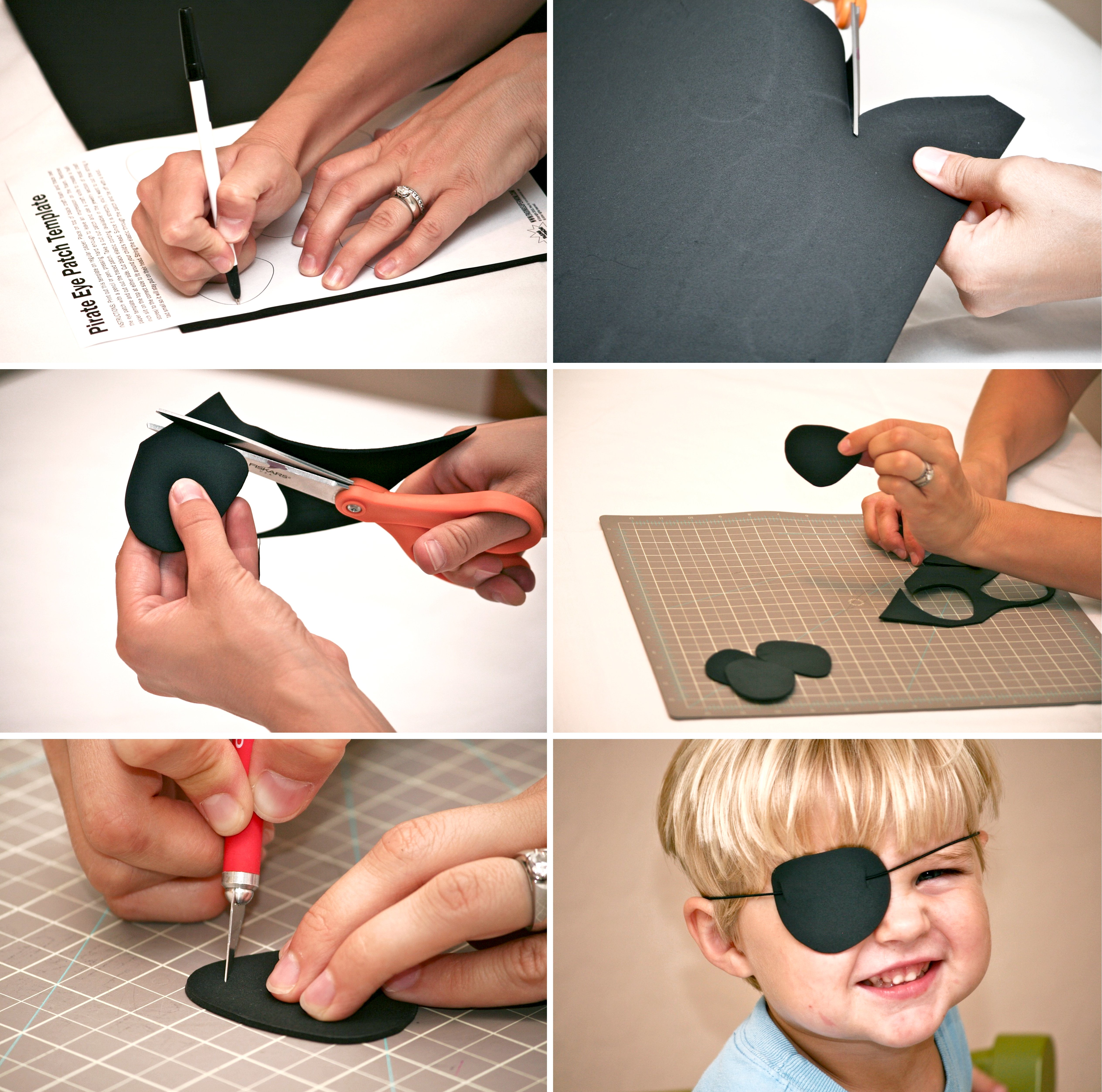 How to Make a Pirate Eye Patch with FREE printable template via @pagingsupermom