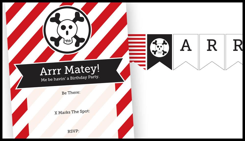 Free Printable Pirate Party Decor and Invitations via @PagingSupermom