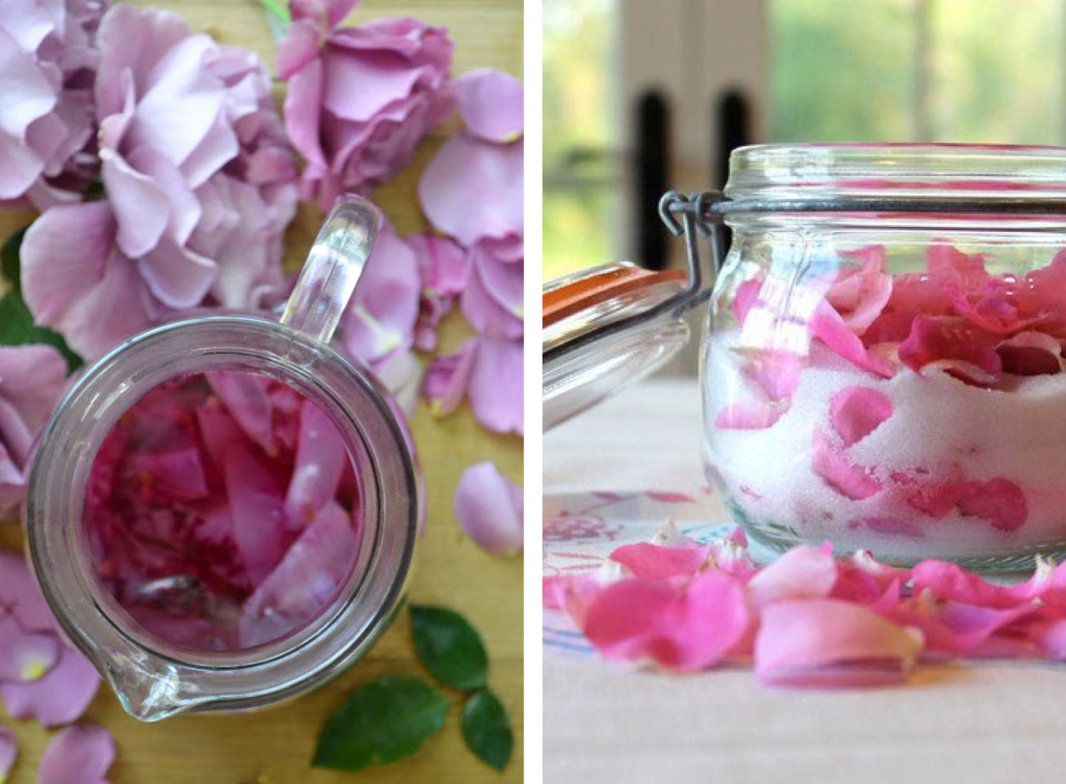 Rose Syrup & Rose Sugar - the Round Up of Rose Recipes via @PagingSupermom