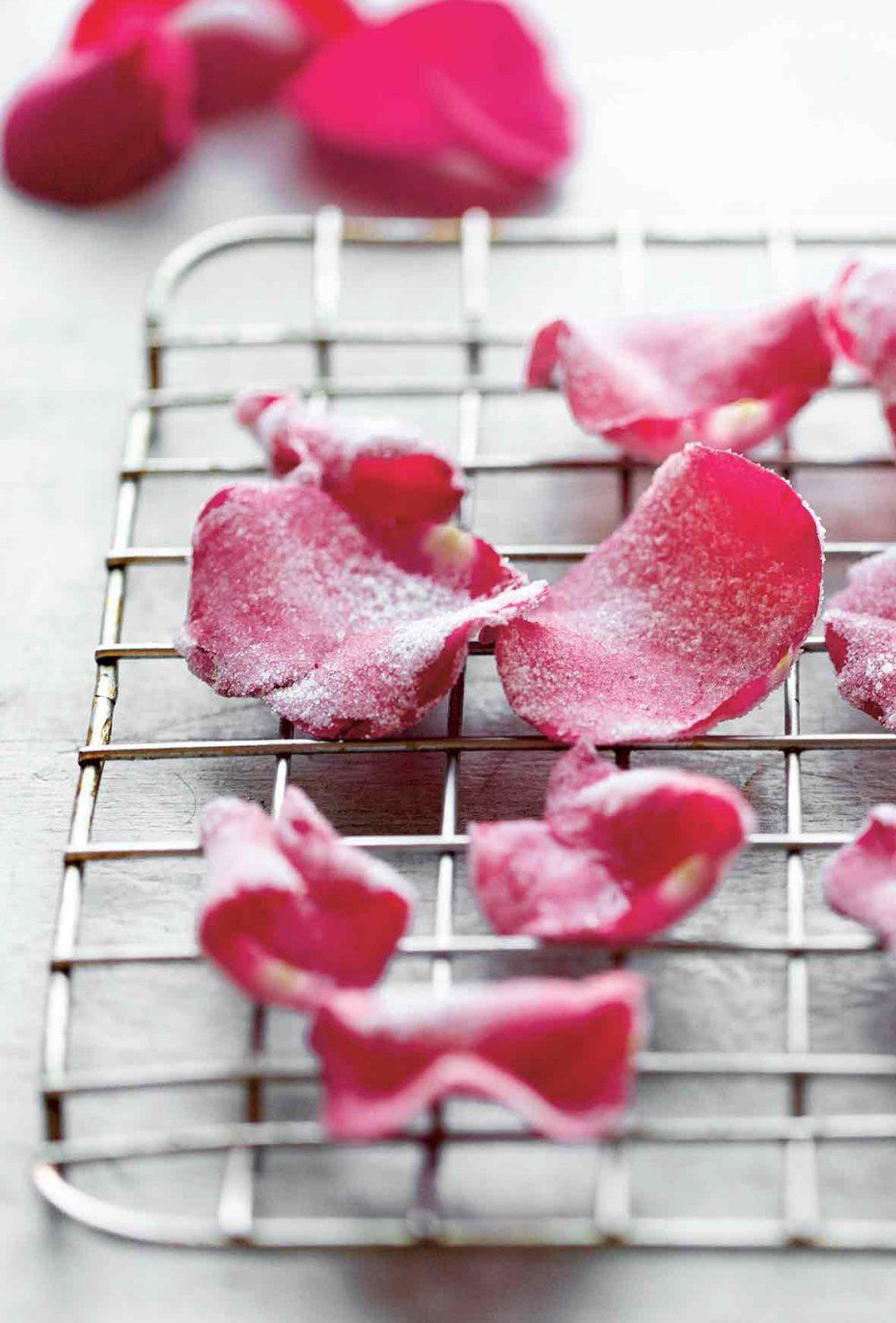 Candied Rose Petals - the Round Up of Rose Recipes via @PagingSupermom