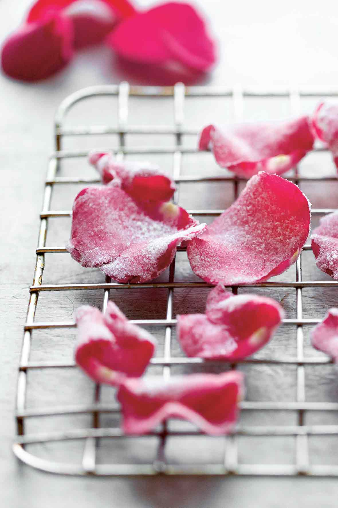 Candied Rose Petals - the Round Up of Rose Recipes via @PagingSupermom