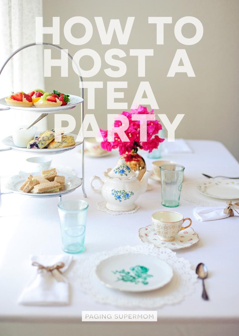 How to Host a Tea Party with basic menu and recipes via @PagingSupermom