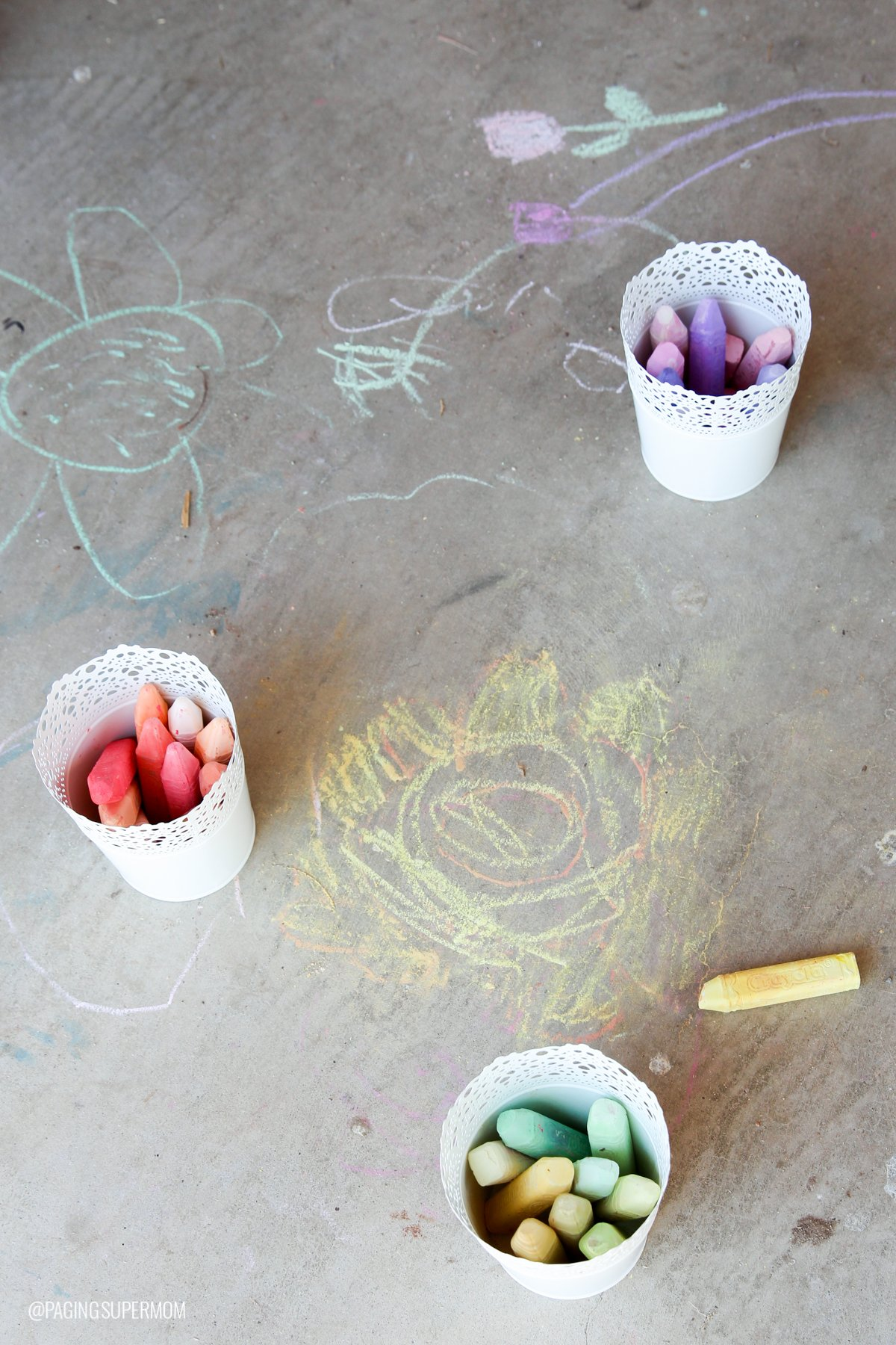 Flower Chalk Art at our Flower Arranging Party