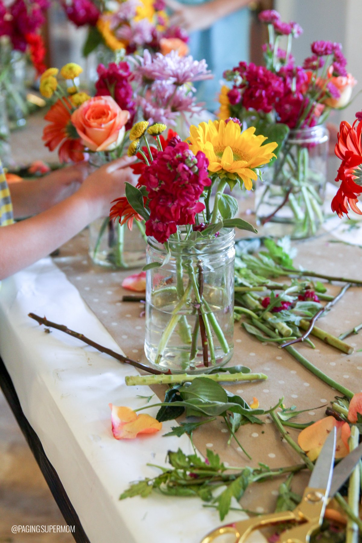 How to Host a Flower Arranging Party with Tweens