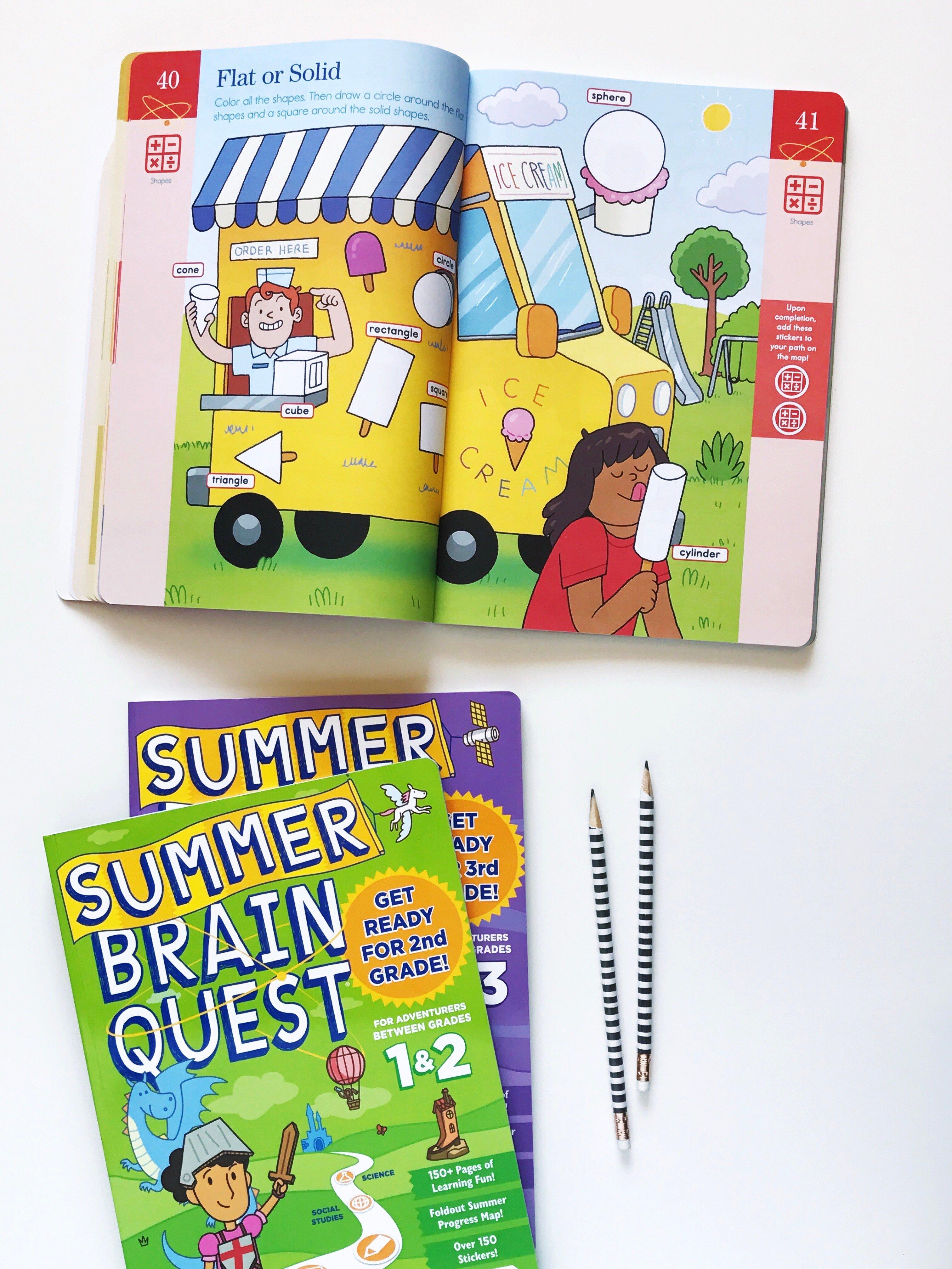 Summer Brain Quest Workbooks to keep kids #SummerSmart via @PagingSupermom