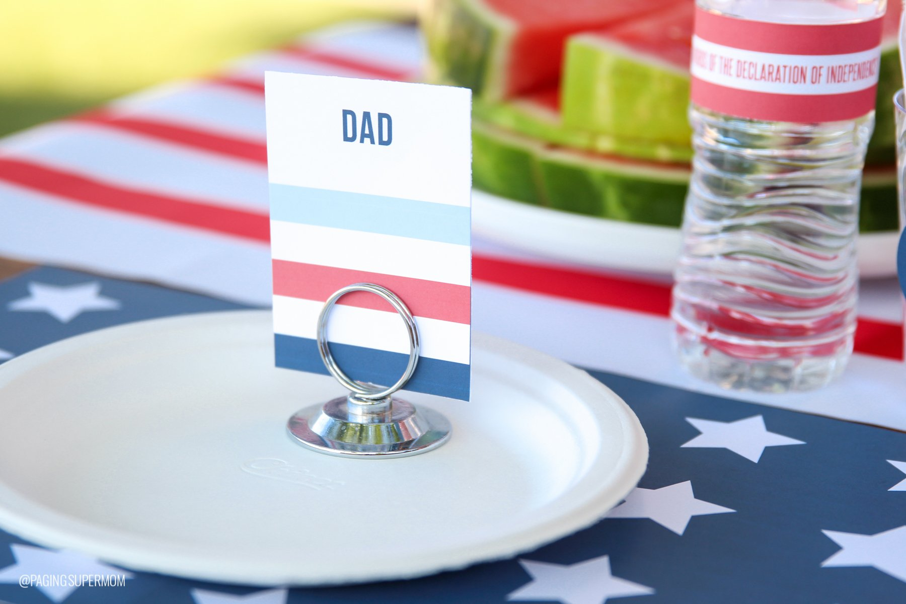 Editable July 4th Food Tags template from @PagingSupermom