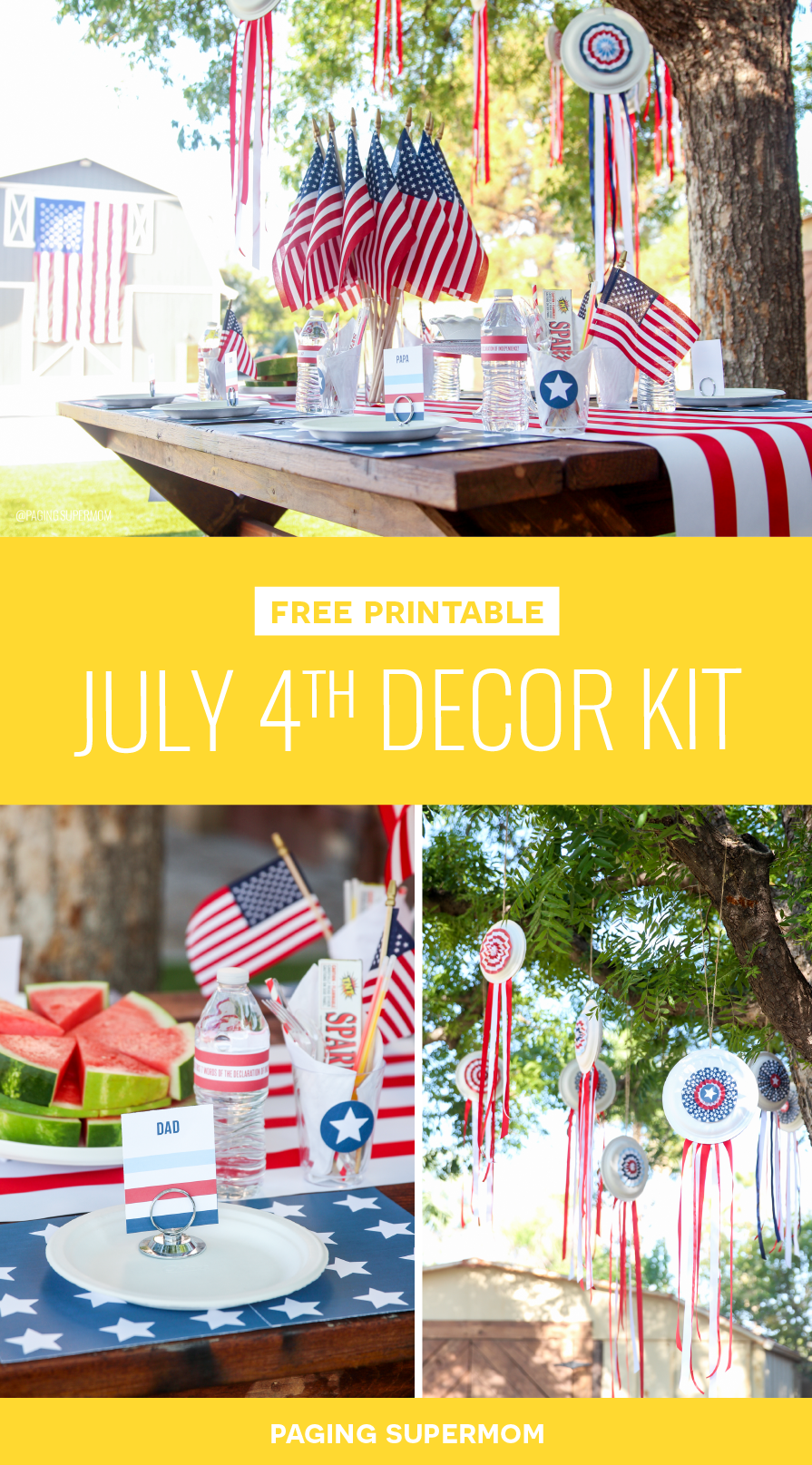 Easy July 4th Decor Ideas via @PagingSupermom