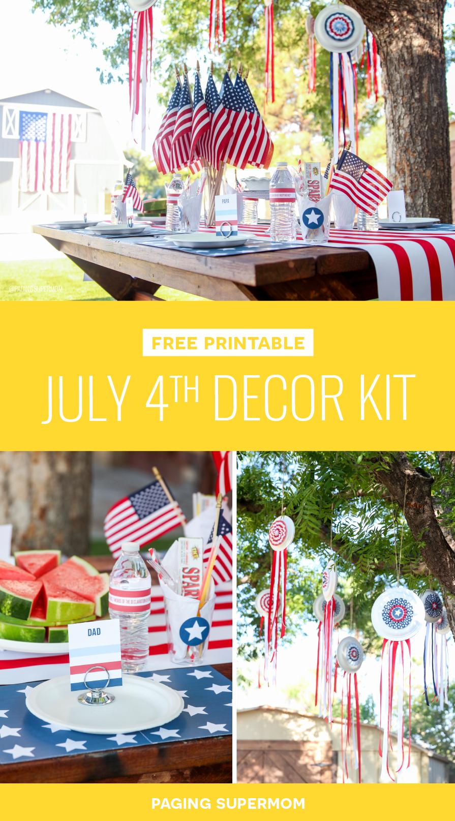 Easy July 4th Decor Ideas via @PagingSupermom