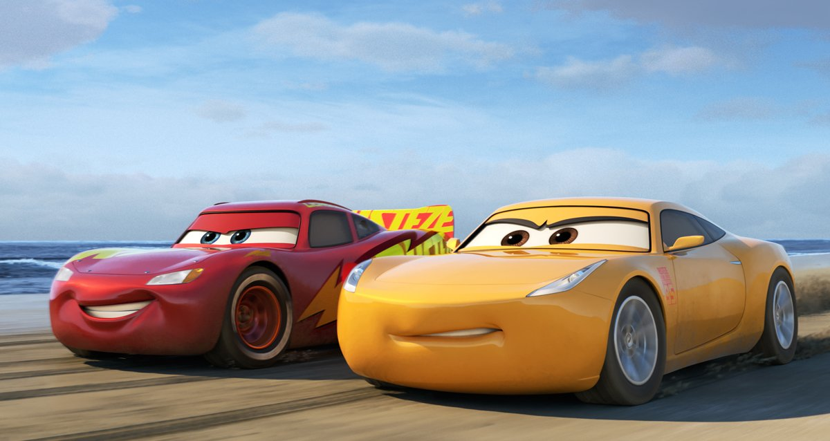 Lightning and Cruz Ramirez race off in #Cars3 via @PagingSupermom