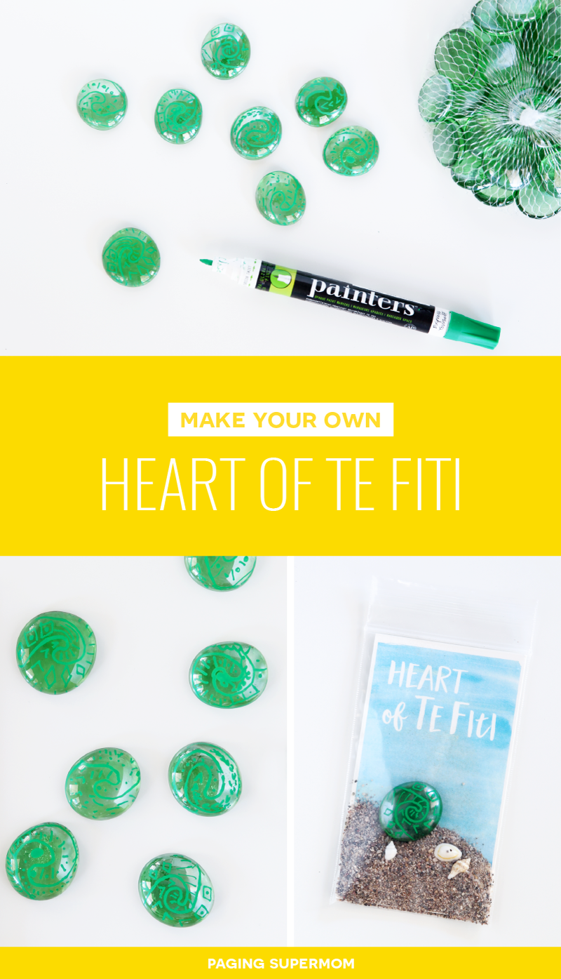 How to Make Moana's Heart of Te Fiti -- super easy and inexpensive! With FREE printable card from @PagingSupermom