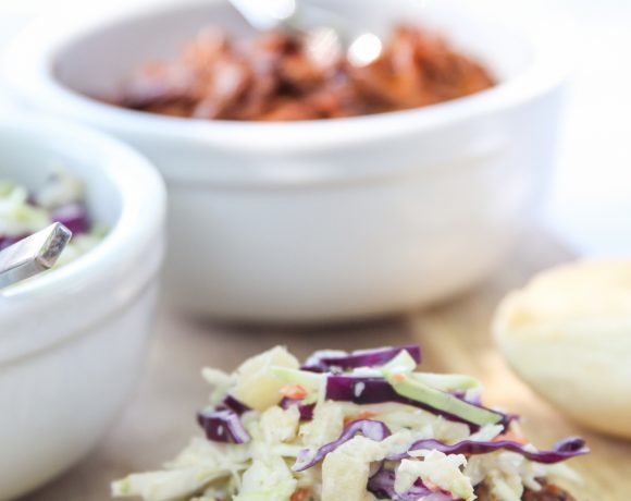 Moana Party Food Ideas: Pulled Pork & Pineapple Coleslaw