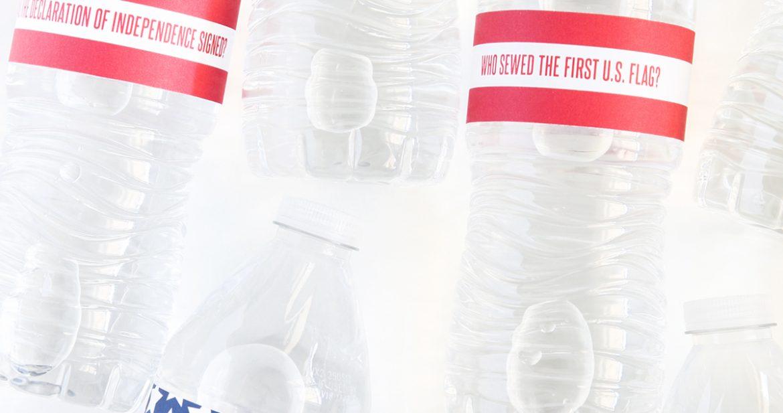 July 4th USA Trivia Water Bottle Wraps