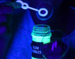 Blacklight Party DIY Glow Bubbles Recipe