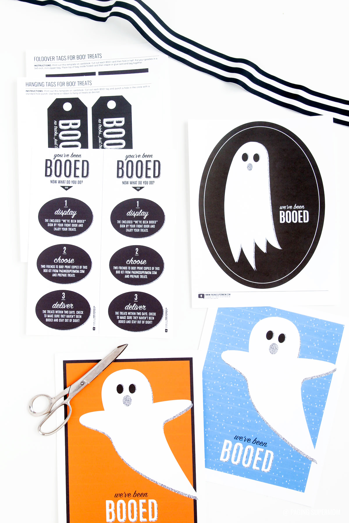 You've Been Booed - FREE PRINTABLE Neighborhood Booing Kit for Halloween from @PagingSupermom