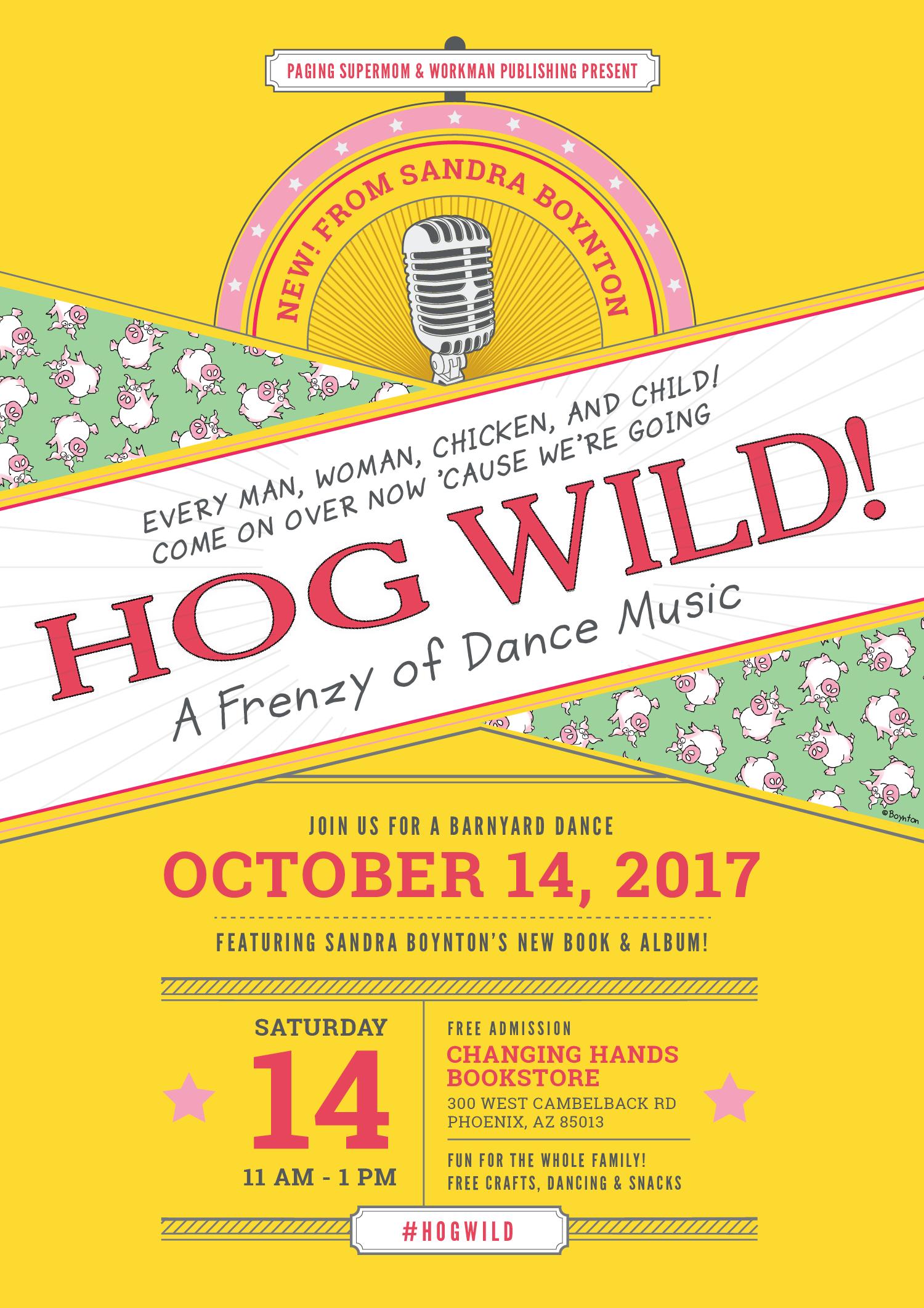 Hog Wild Sandra Boynton's new book - Launch Party in Phoenix