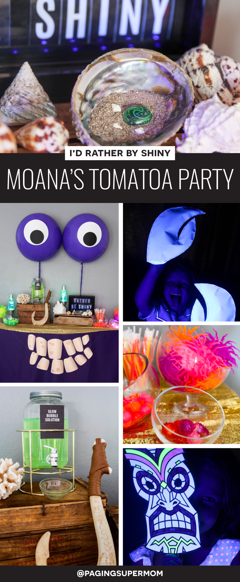 SO COOL! Moana Tomatoa Party - Moana Shiny Party based on the Realm of Monsters in Moana movie via @PagingSupermom