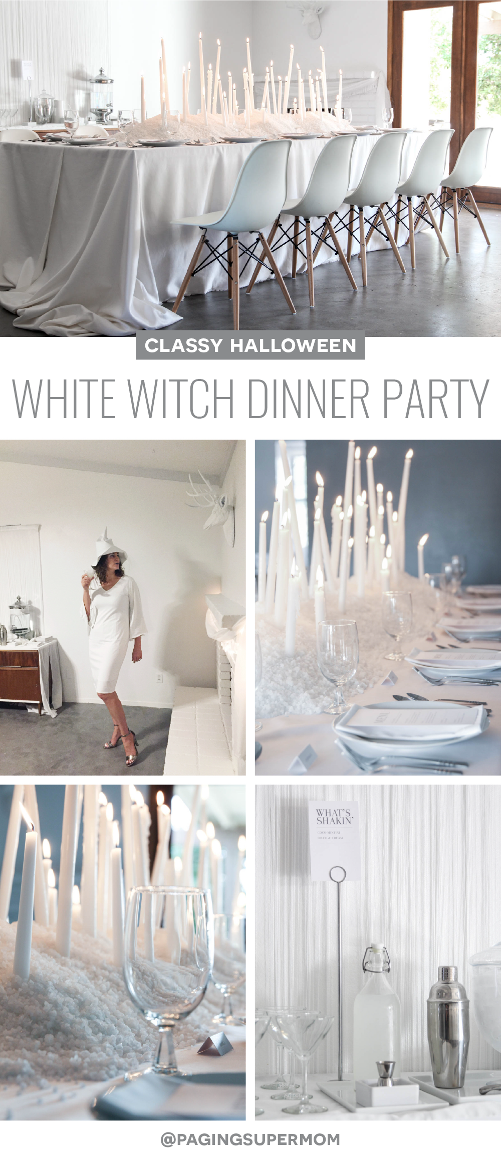 White Witch - An Elegant Halloween Party via @PagingSupermom