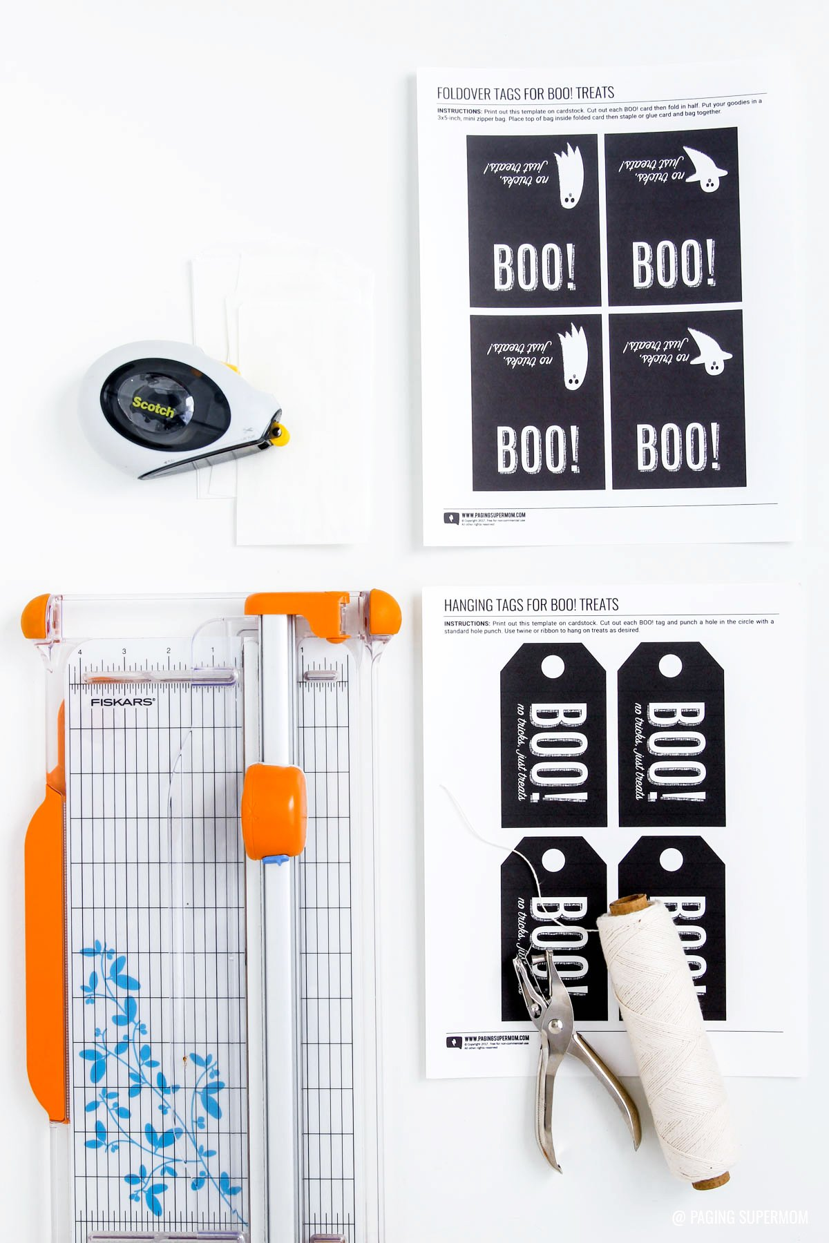 "Free Printable ""You've Been Booed"" Gift Tags for Halloween from @PagingSupermom"