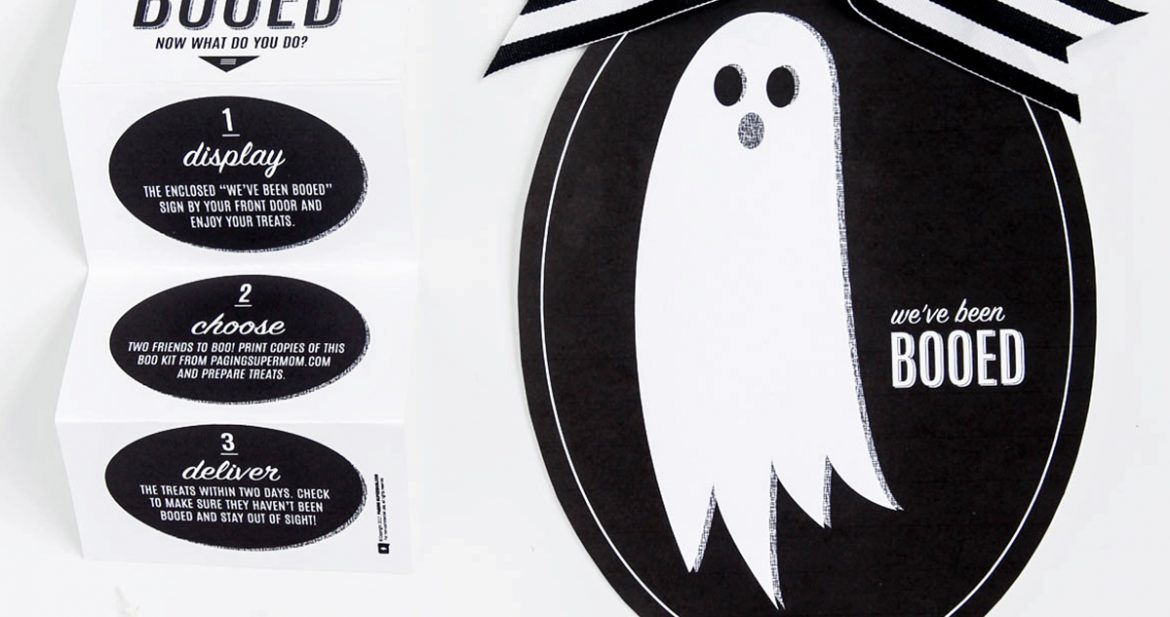 """""""You've Been Booed"""" Sign + Free Halloween Boo Kit"""